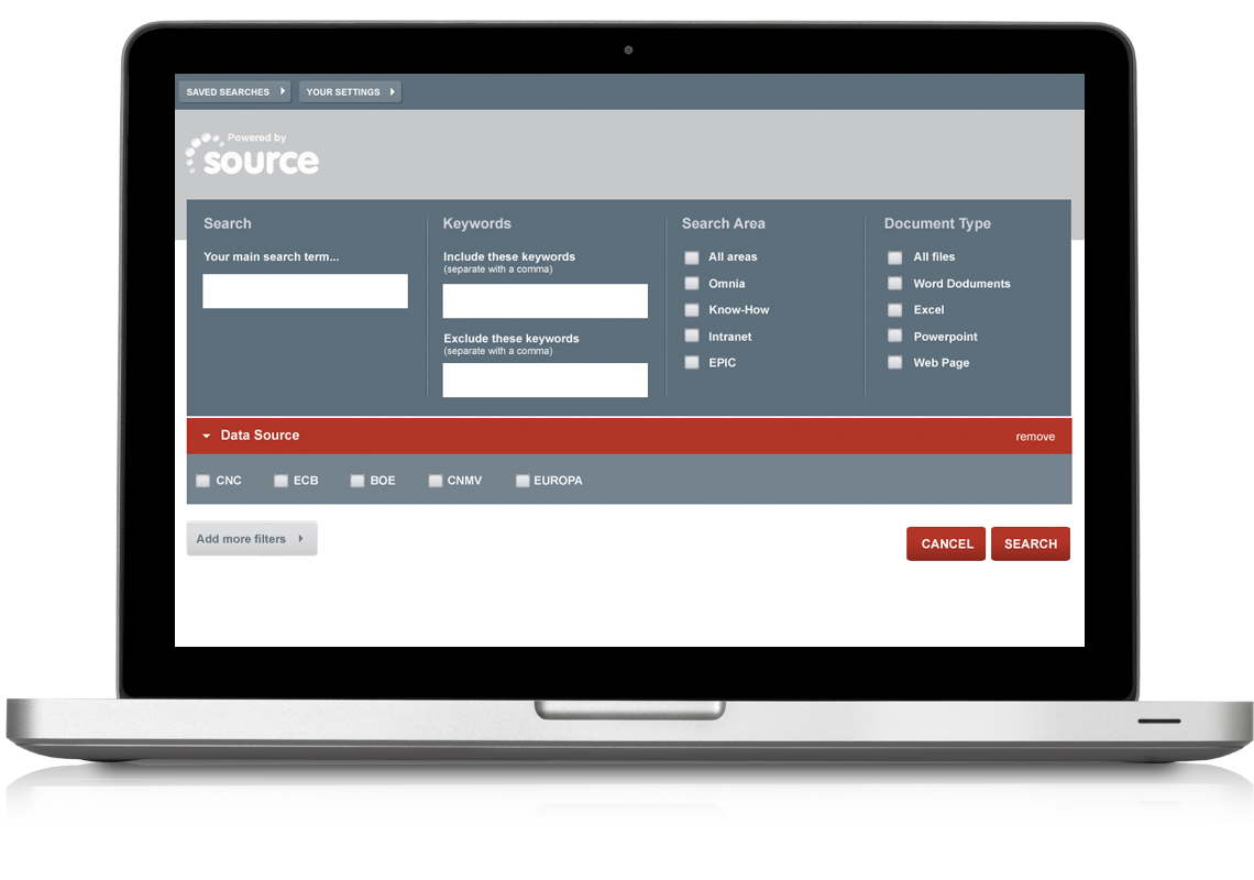 Equion Search Application Advanced Search Page