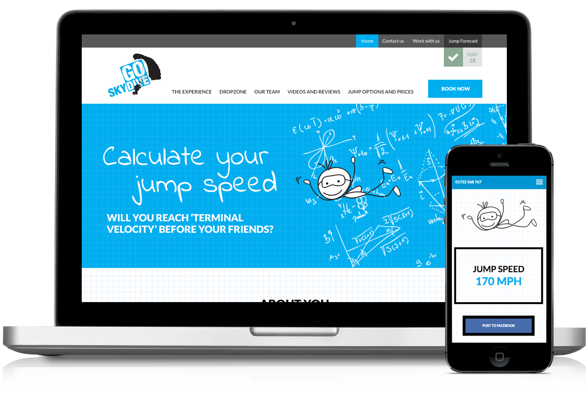GoSkydive Terminal Velocity Calculator